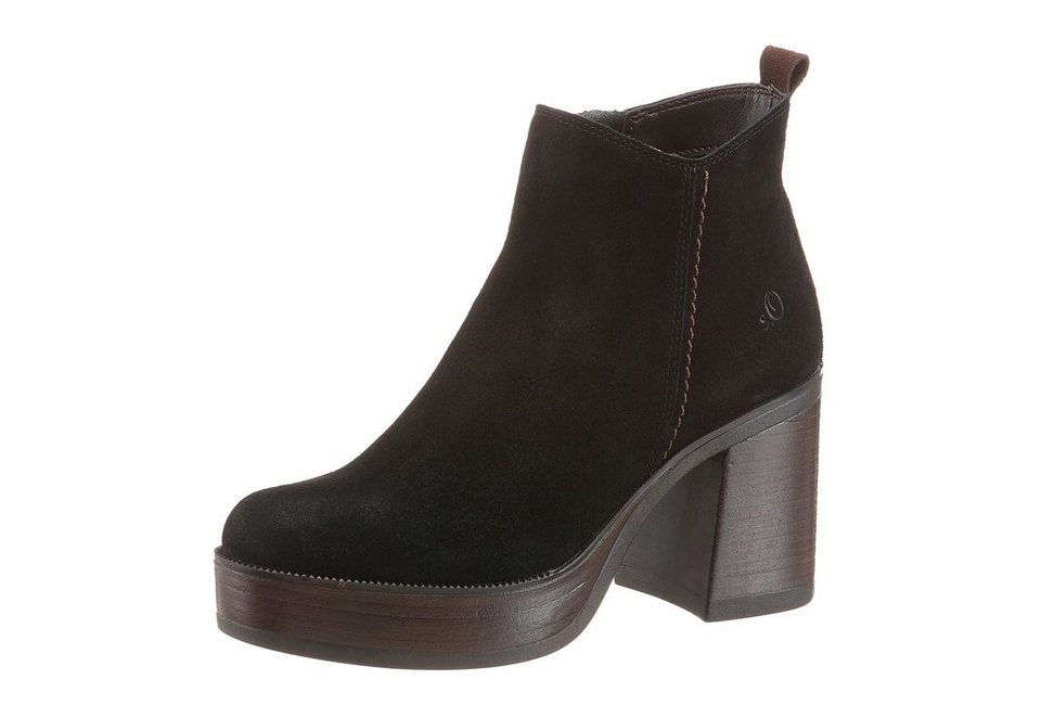 s.Oliver RED LABEL Plateaustiefelette in schwarz