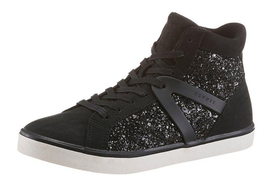 Esprit Sneaker in funkelnder Optik in schwarz