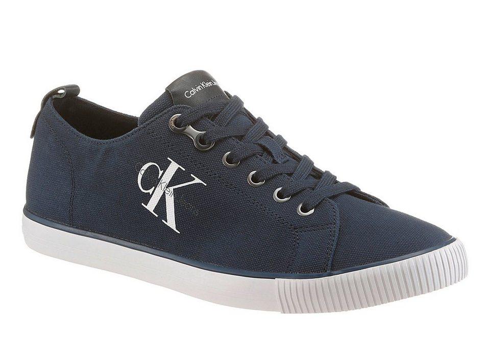 Calvin Klein »Arnold Canvas« Sneaker mit Logoapplikation in dunkelblau