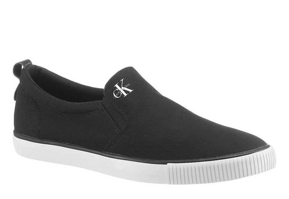 Calvin Klein »Armand Canvas« Sneaker mit CK Logo in schwarz