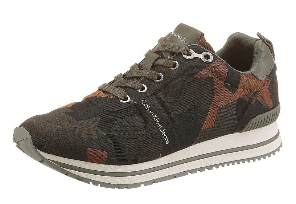 Calvin Klein »Everly« Sneaker tarnfarben in khaki-schwarz-braun