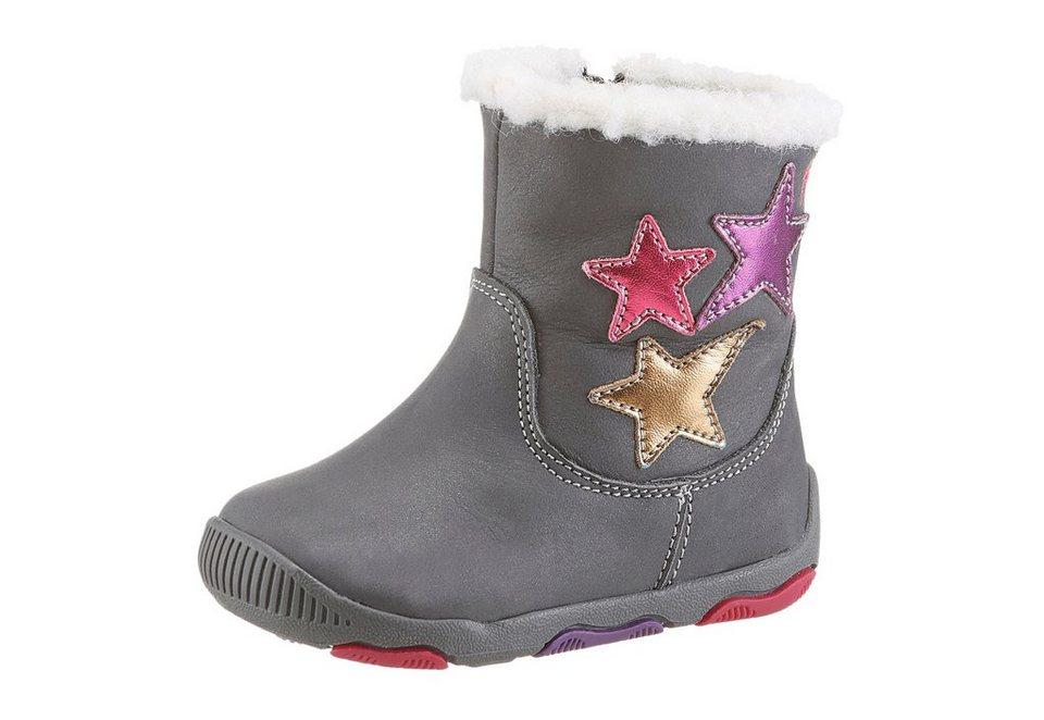Geox Kids Stiefel mit Warmfutter in grau-lila-pink