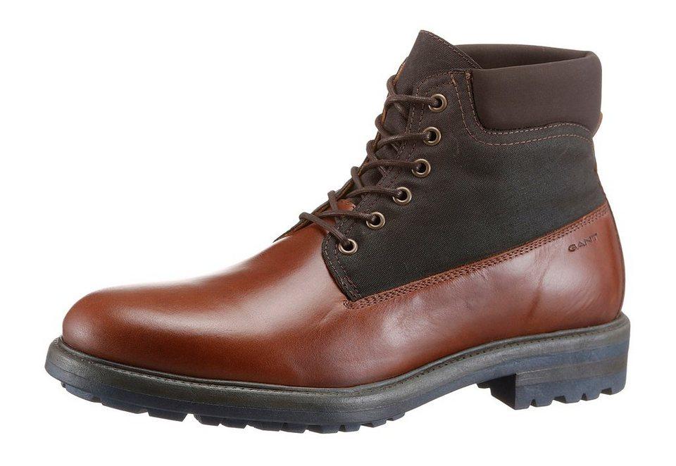 Gant Footwear »Nobel« Schnürboots im Materialmix in braun-dunkelbraun