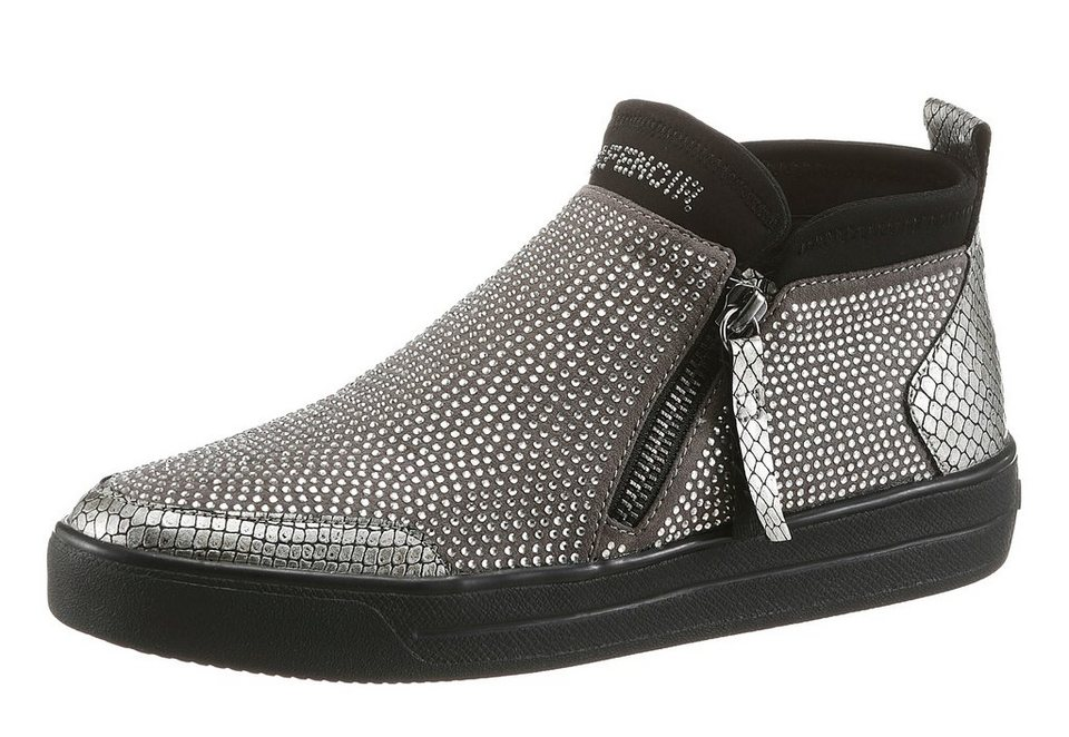 Cafe Noir Sneaker in funkelnder Optik in grau
