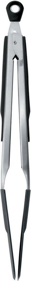 OXO Silikonzange, 30 cm in silberfarben/schwarz