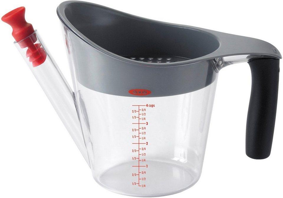 OXO Fetttrennkanne 1 Liter in transparent/schwarz