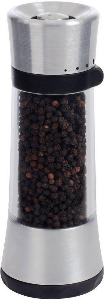 OXO Pfeffermühle, »Slim« in transparent/edelstahlfarben/schwarz