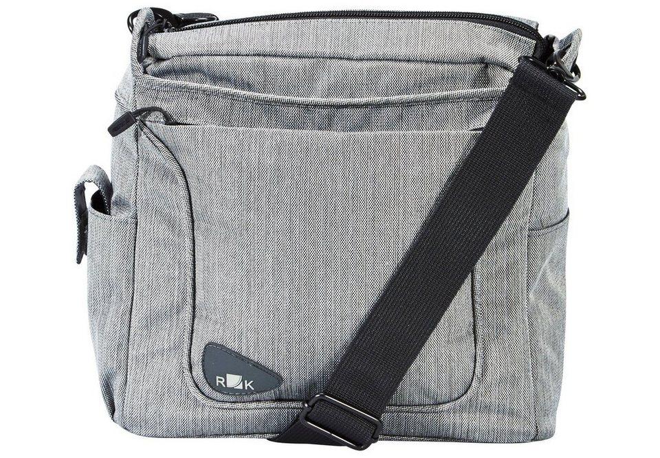 KlickFix Gepäckträgertasche »Allegra Fashion Lenkertasche grau«