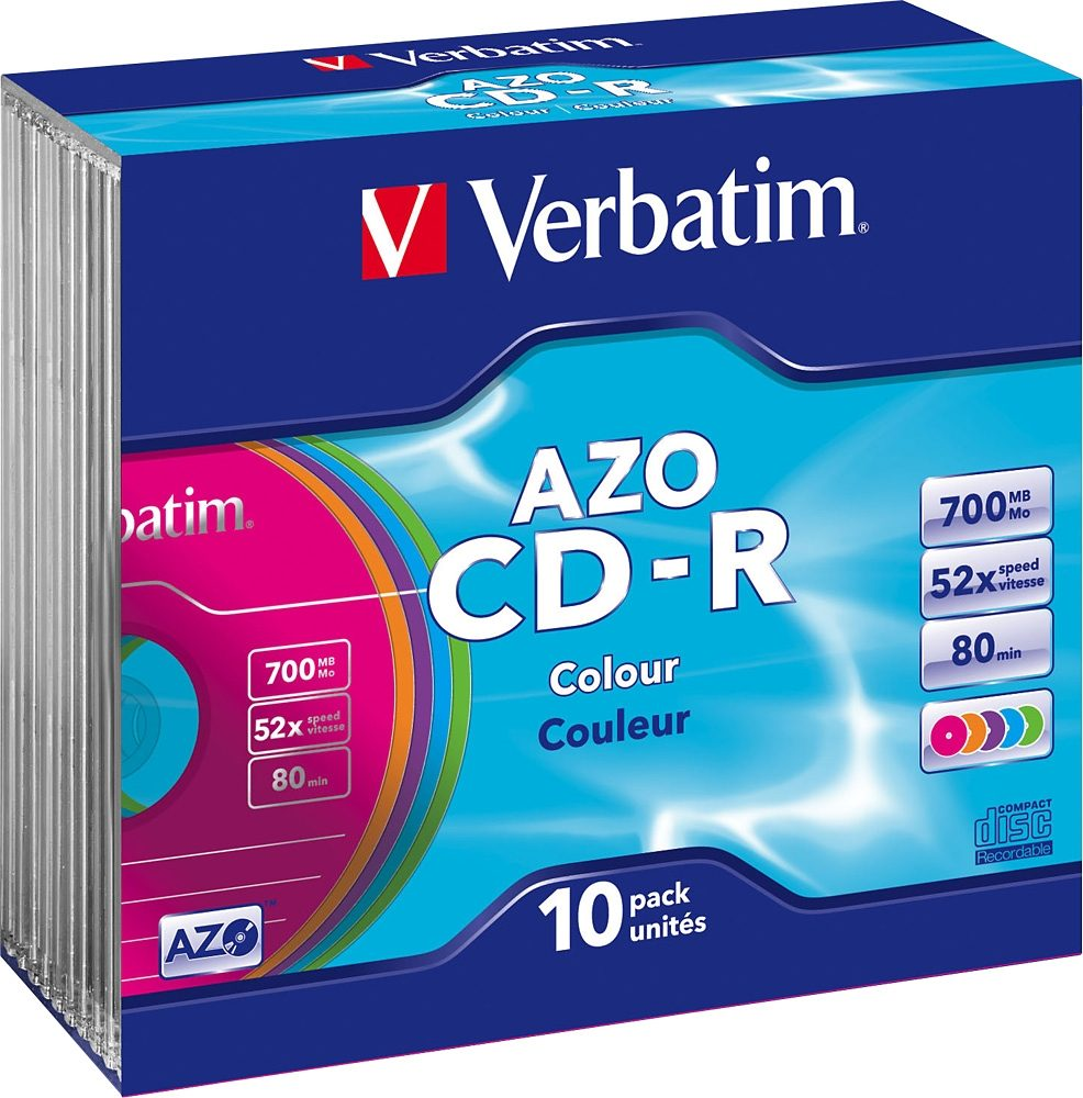Verbatim CD-R 80min/700MB/52x Slimcase (10 Disc)