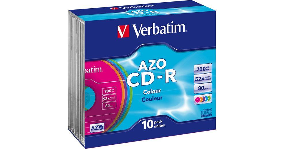 Verbatim CD-R 80min/700MB/52x Slimcase (10 Disc)