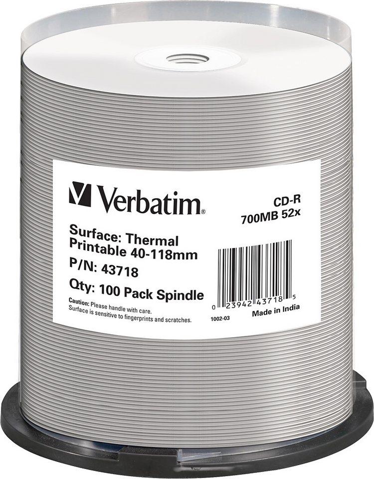 Verbatim CD-R 80Min/700MB/52x Cakebox (100 Disc) in white
