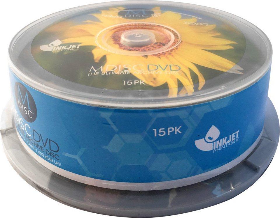 MILLENNIATA M-DISC DVD 4.7GB/1-4x Cakebox (15 Disc) in white