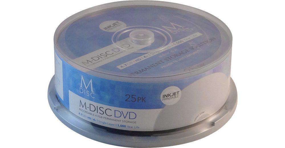 MILLENNIATA M-DISC DVD 4.7GB/120Min/4x Cakebox (25 Disc)