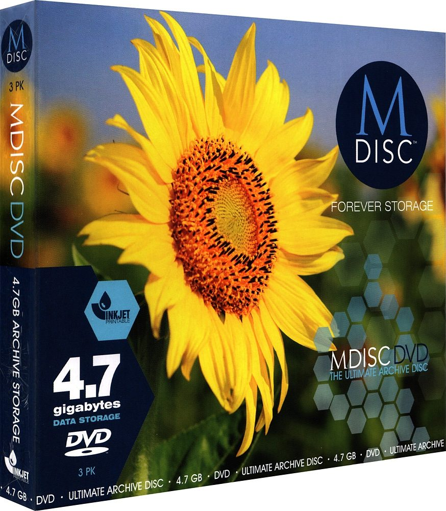 MILLENNIATA M-DISC DVD 4.7GB/1-4x Slimcase (3 Disc)