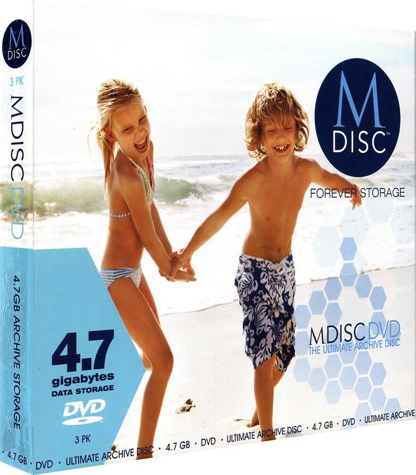 MILLENNIATA M-DISC DVD 4.7GB/1-4x Slimcase (3 Disc) in silver