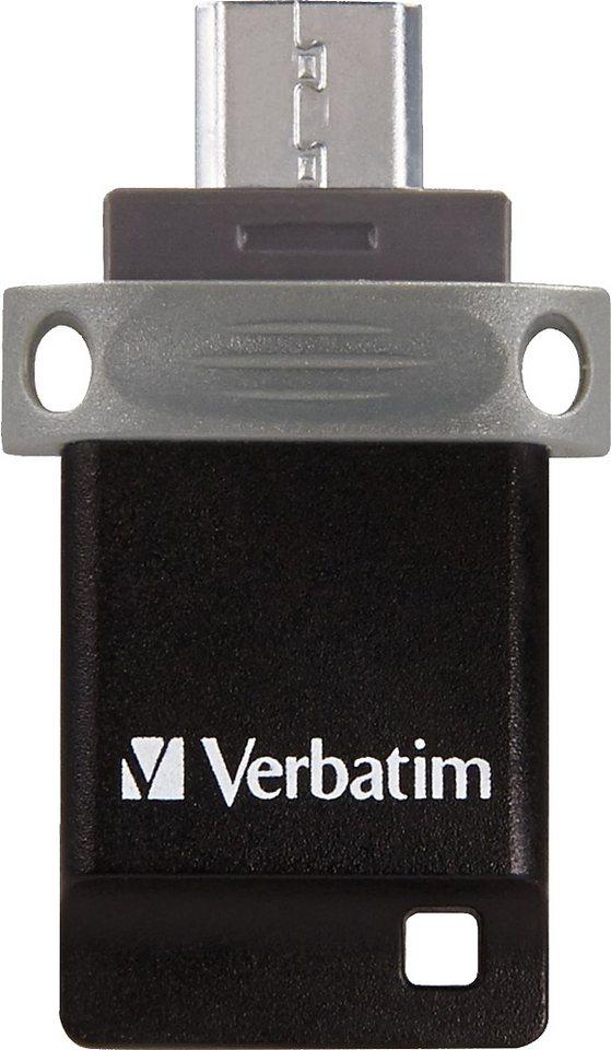 Verbatim USB 2.0 OTG Stick 16GB, Dual Drive in silver