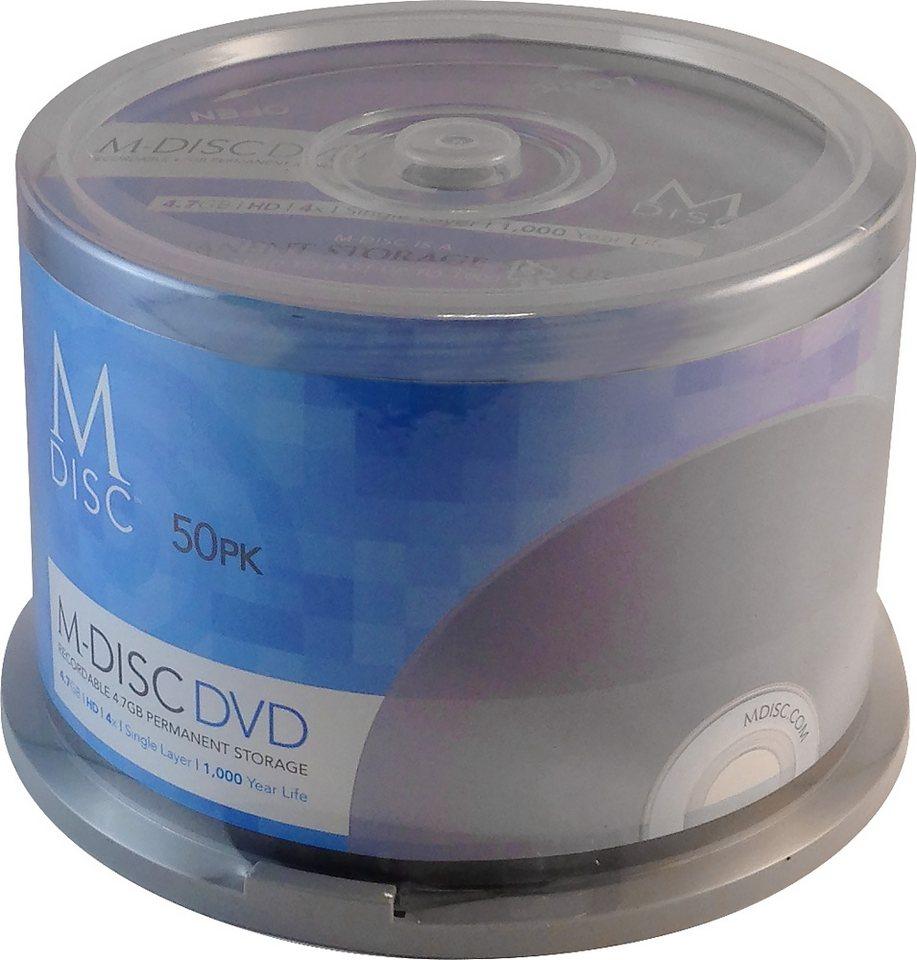 MILLENNIATA M-DISC DVD 4.7GB/120Min/4x Cakebox (50 Disc) in silver