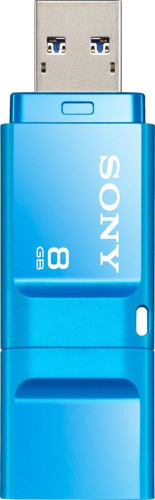 Sony USB 3.0 Stick 8GB, Micro Vault X, blau