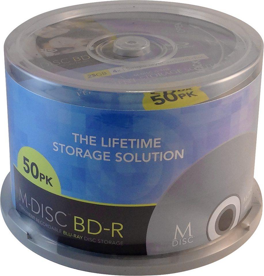 MILLENNIATA M-DISC BD-R 25GB/1-4x Cakebox (50 Disc) in silver