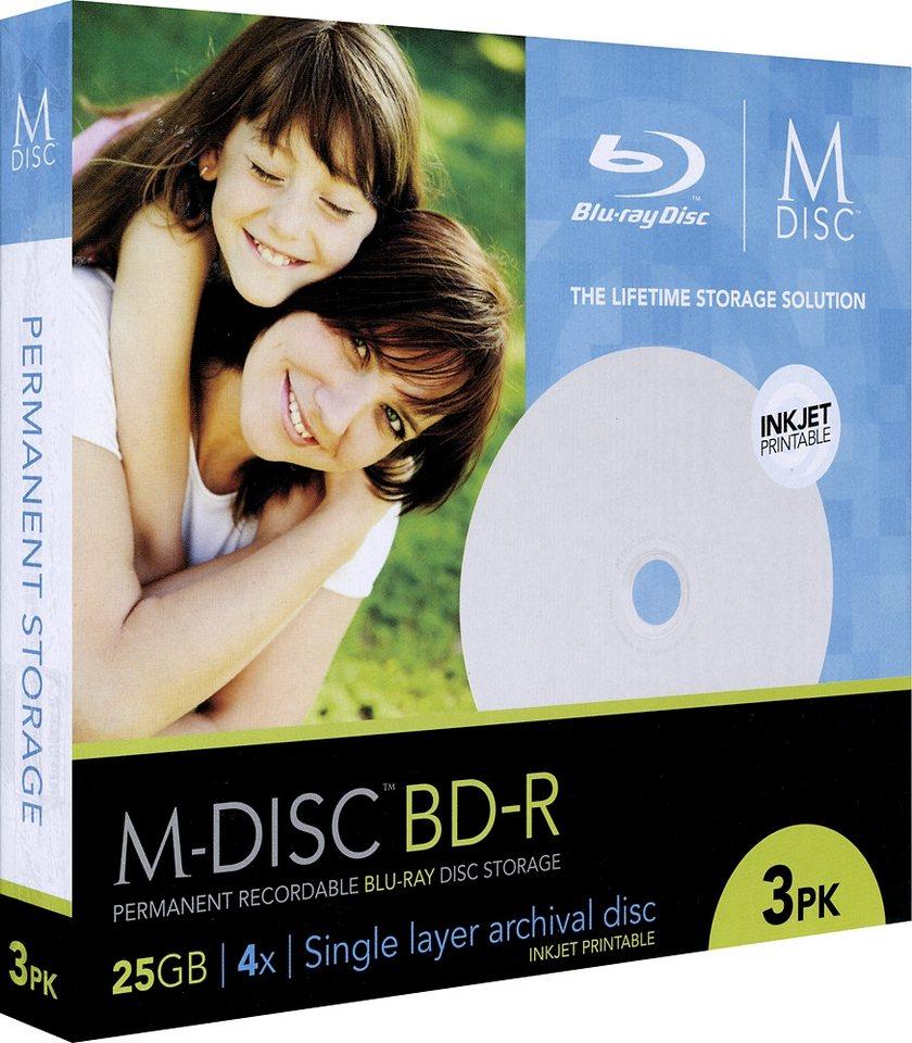 MILLENNIATA M-DISC BD-R 25GB/1-4x Slimcase (3 Disc) in white