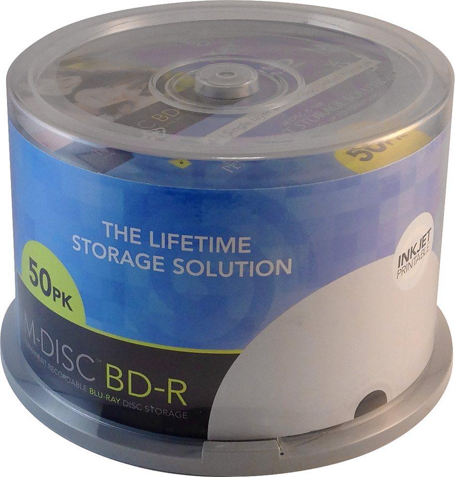 MILLENNIATA M-DISC BD-R 25GB/1-4x Cakebox (50 Disc) in white