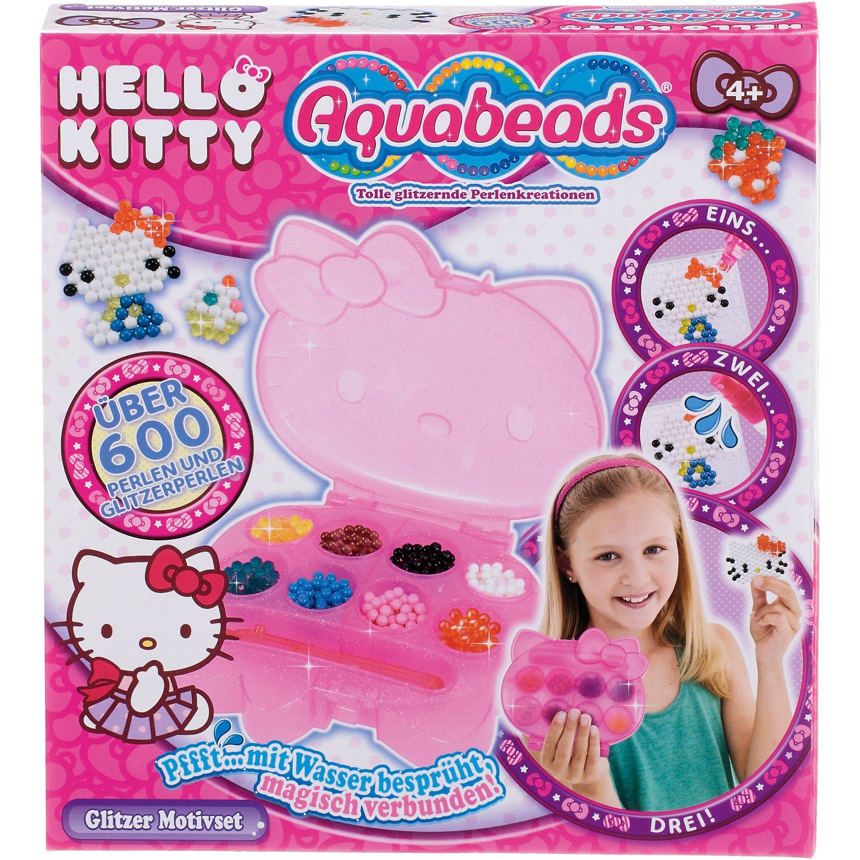 EPOCH Traumwiesen Aquabeads Hello Kitty Glitzer Motivset