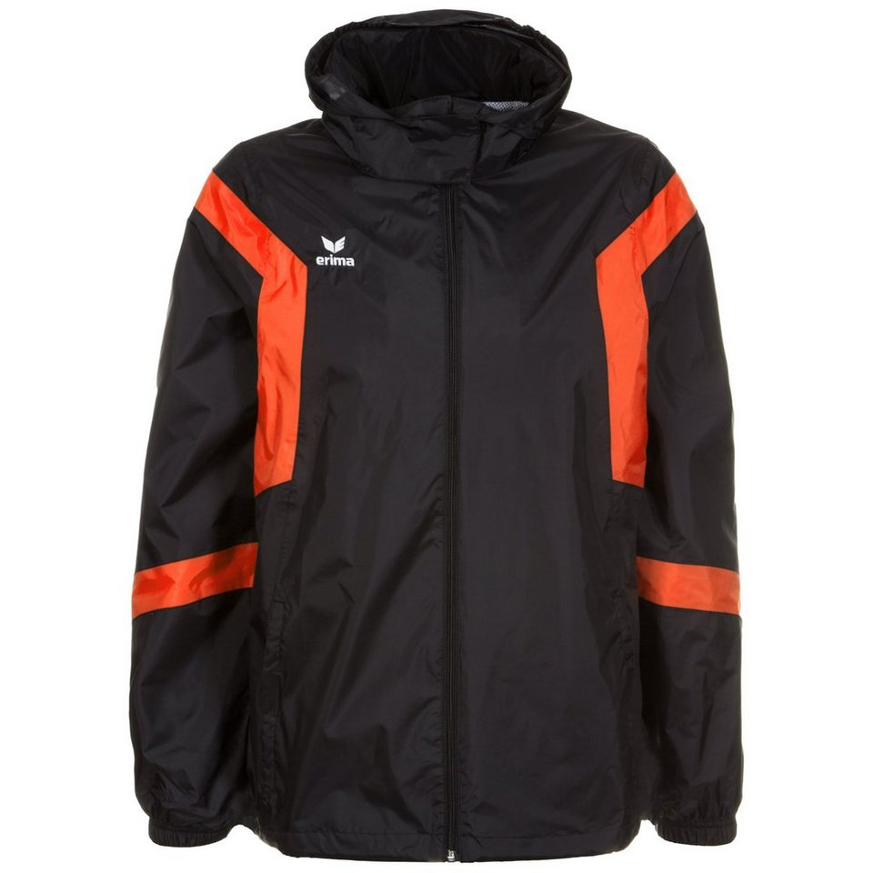ERIMA Classic Team Regenjacke Herren in schwarz / orange