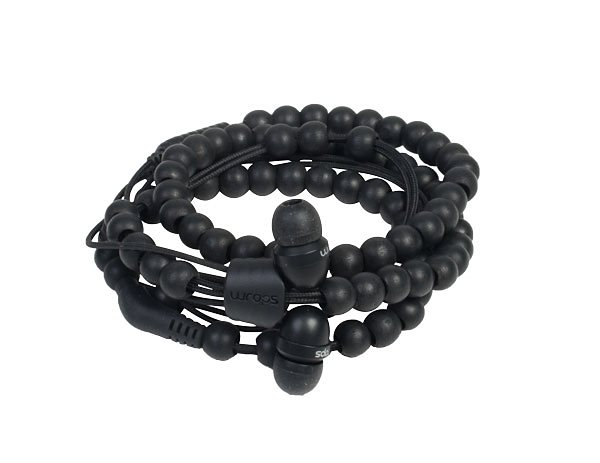Midbass Headset »Natural Wooden Beads Wrap Ebony w/Mic« in braun