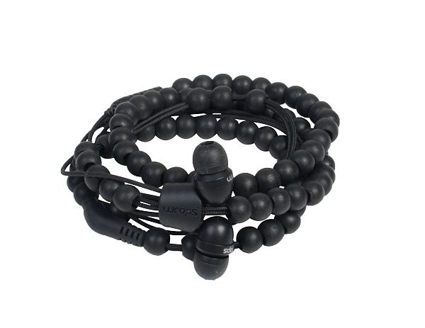 Midbass Headset »Natural Wooden Beads Wrap Ebony w/Mic«