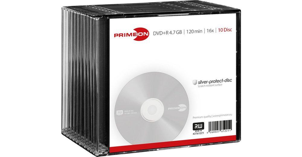 PRIMEON DVD+R 4.7GB/120Min/16x Slimcase (10 Disc)