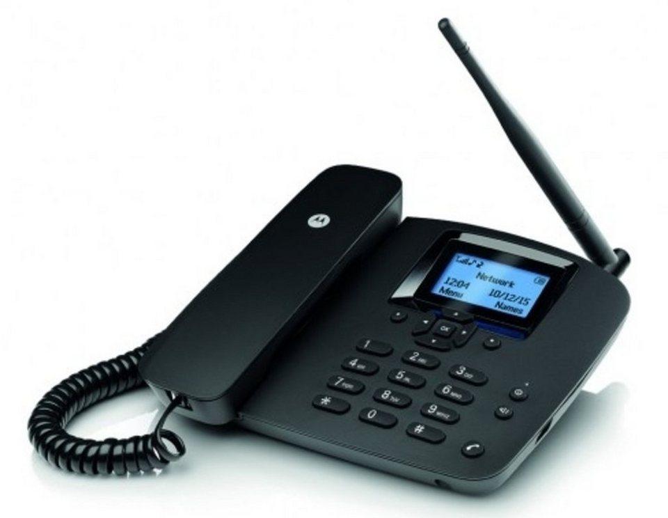 Motorola Telefon schnurgebunden »FW200L« in Schwarz