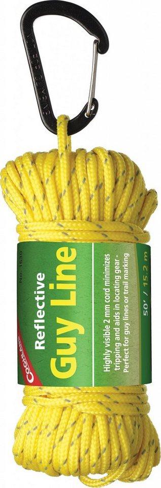 Coghlans Seil »Reflective Seil 15m x 2mm« in gelb
