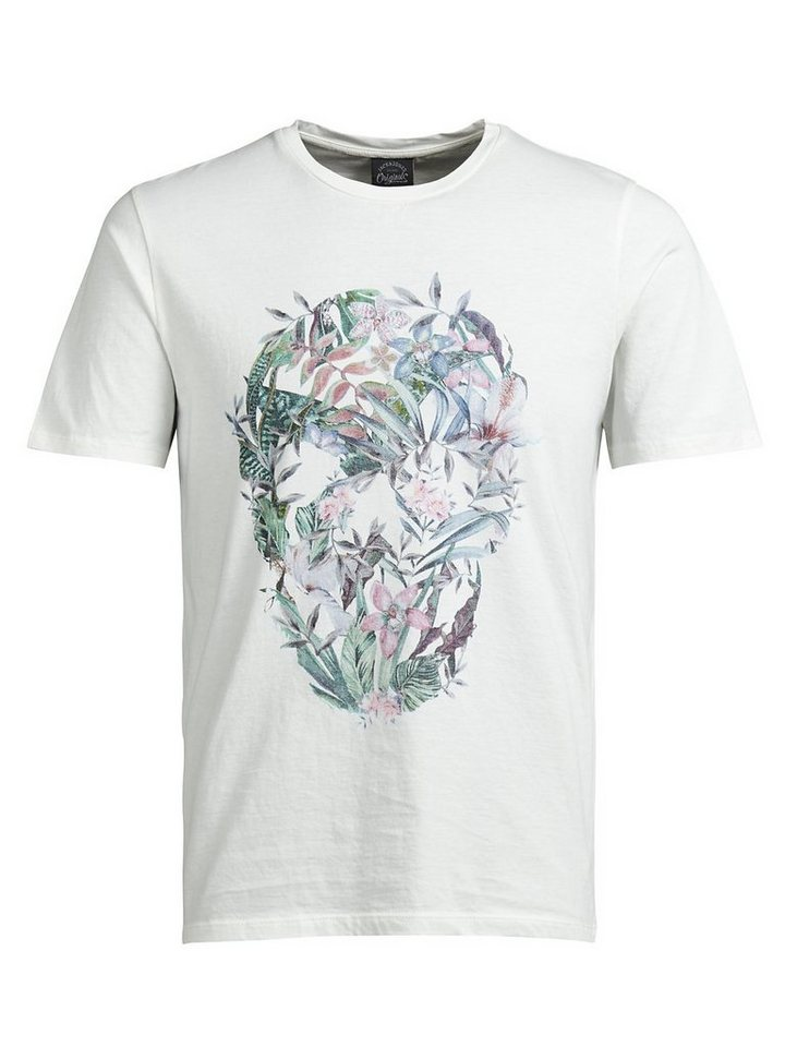 Jack & Jones Blumiges T-Shirt in Cloud Dancer