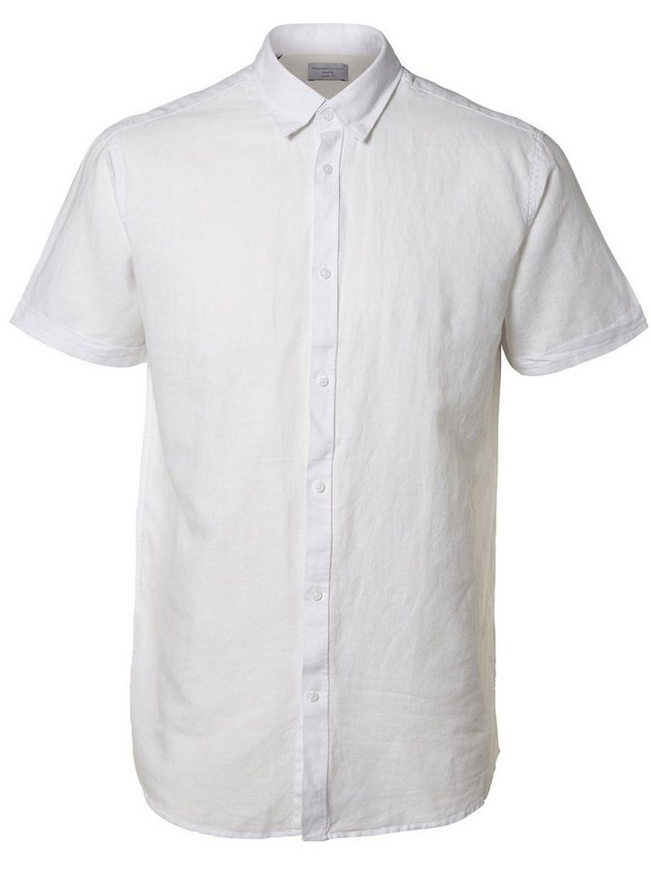 Selected Regular-Fit- Kurzarmhemd in Bright White