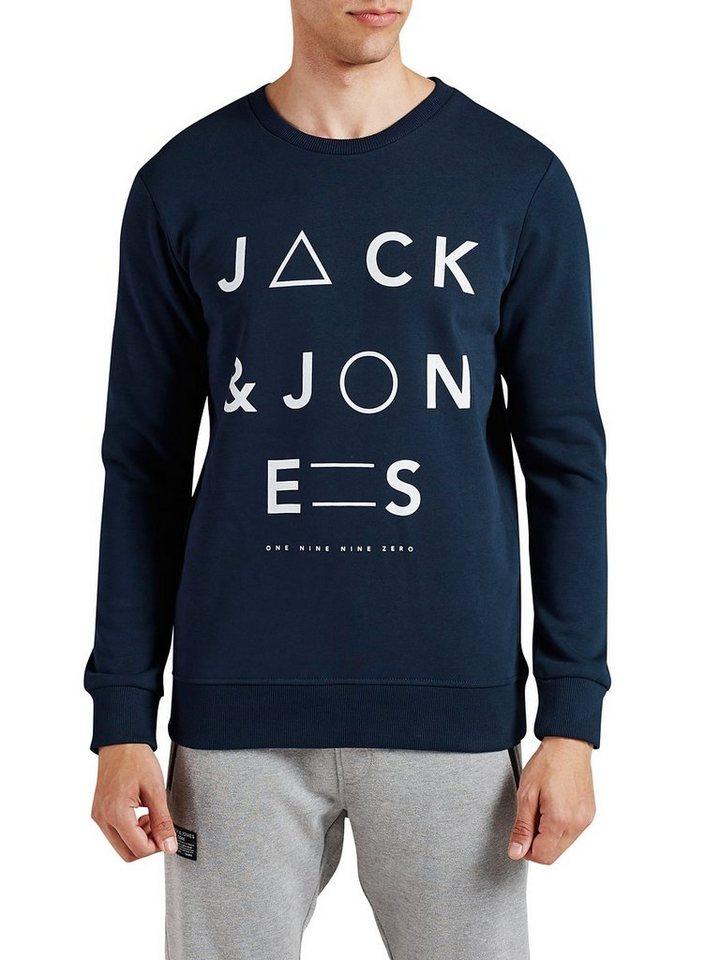 Jack & Jones Grafik- Sweatshirt in Navy Blazer