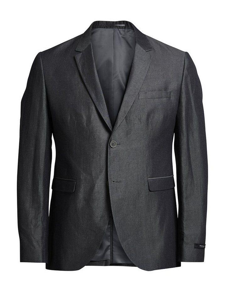 Jack & Jones Slub-Effekt- Blazer in Dark Grey