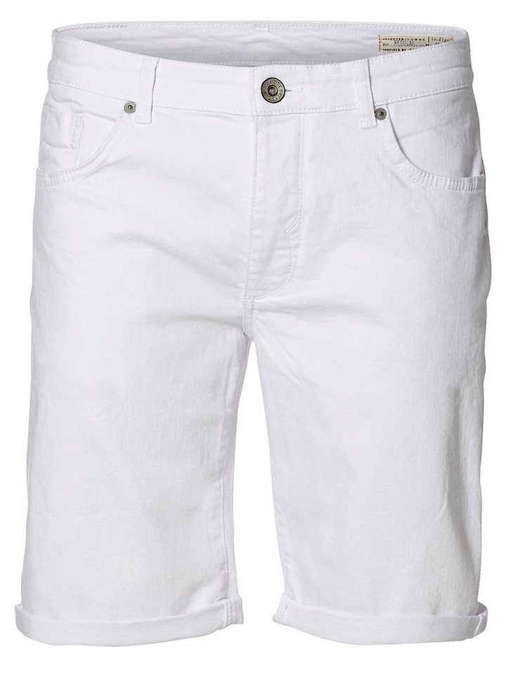 Selected Weiße Jeansshorts in White