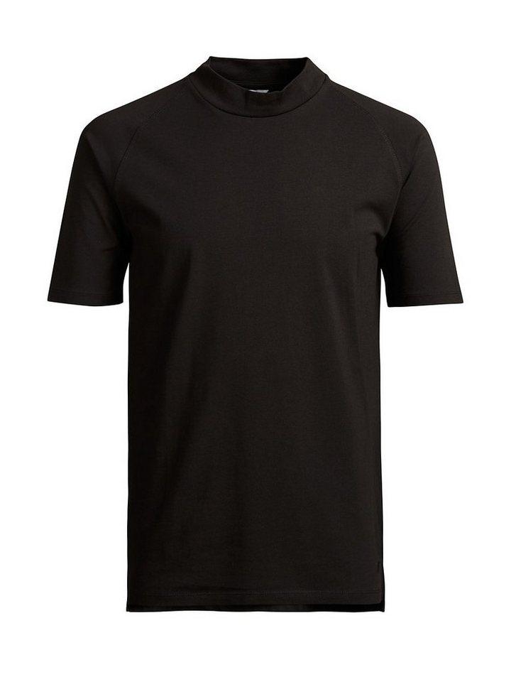 Jack & Jones High-Neck- T-Shirt in Black