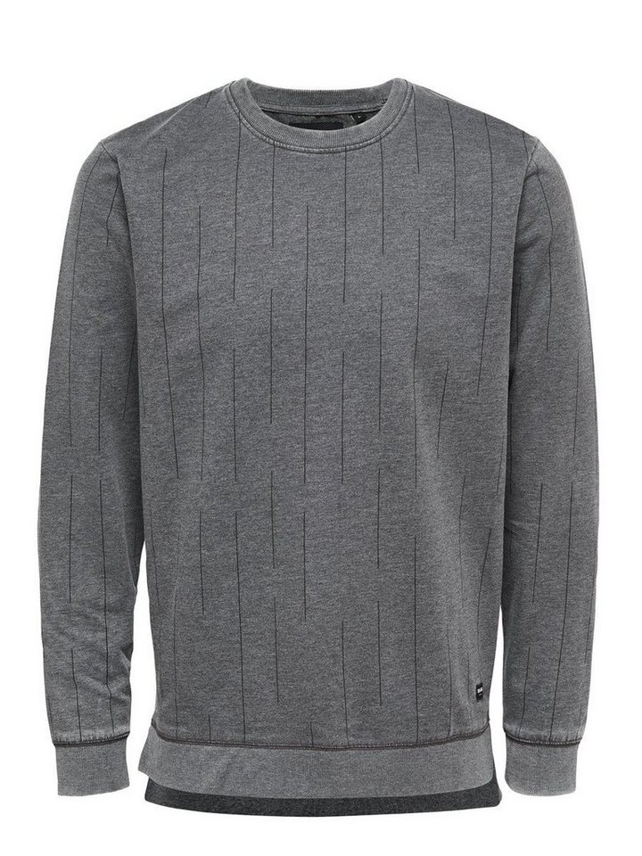ONLY & SONS Detailliertes Sweatshirt in Black