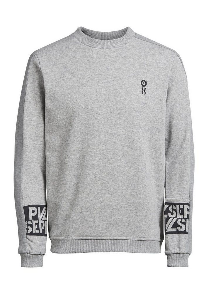 Jack & Jones Klassisches Sweatshirt in Light Grey Melange