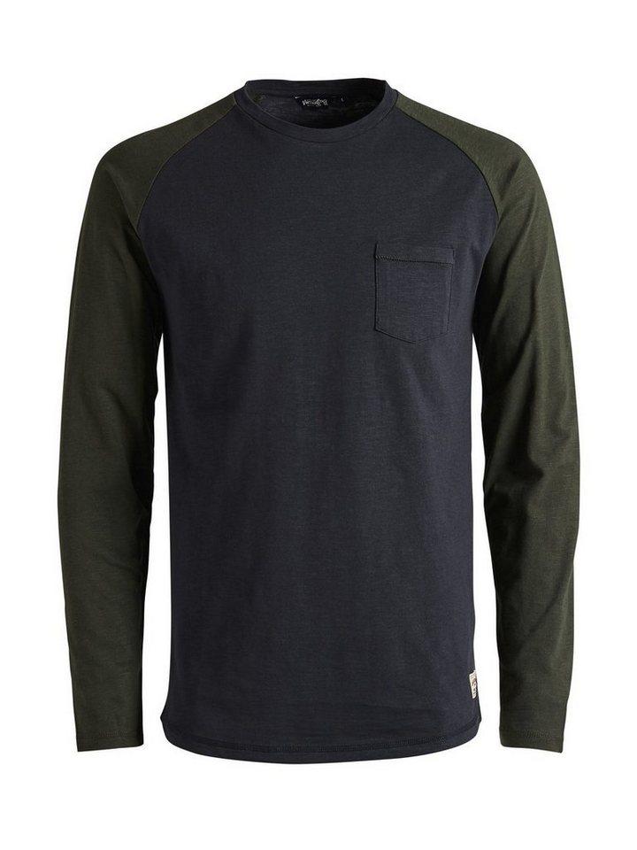 Jack & Jones Raglan- T-Shirt in Caviar