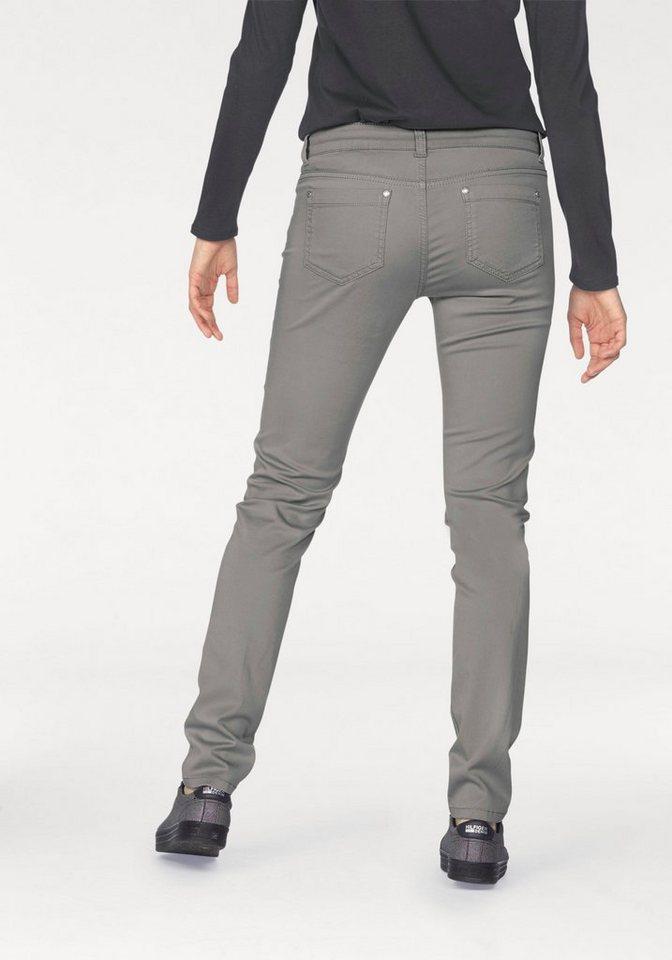 s.Oliver BLACK LABEL 5-Pocket-Jeans »Sienna Slim« in hellgrau