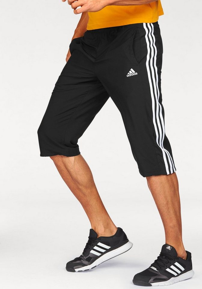 adidas Performance ESSENTIALS 3S 3/4 PANT 3/4-Sporthose in Schwarz-Weiß