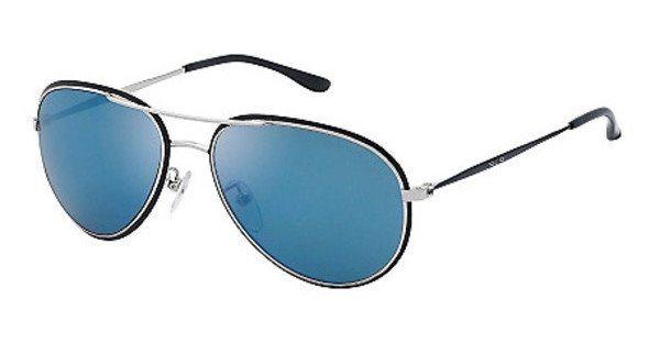 Police Sonnenbrille » SK502« in K07B - silber/blau