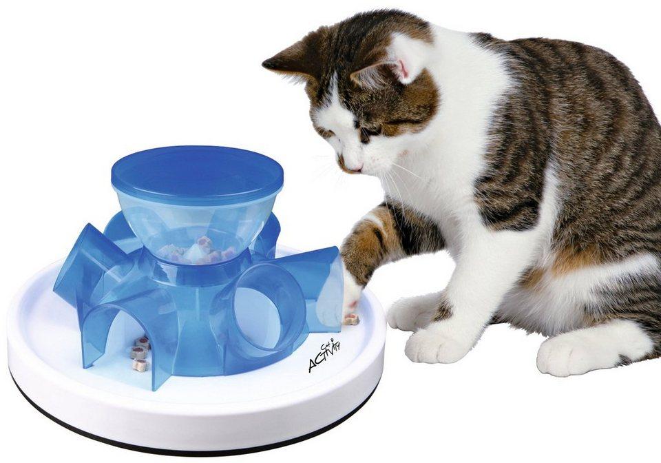 Katzenspielzeug »Tunnel Feeder Strategiespiel« in weiß