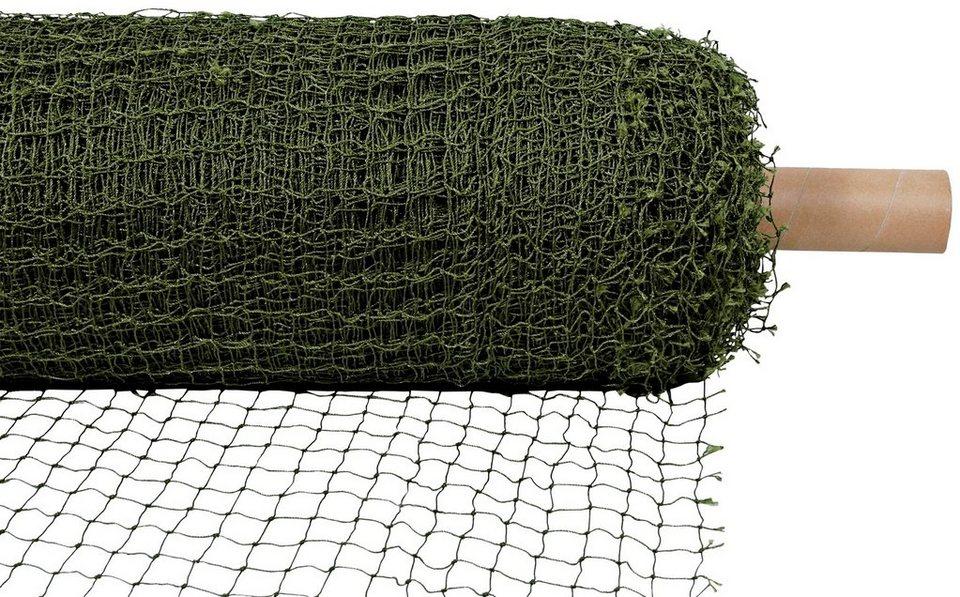Schutznetz, drahtverstärkt, Rollenware, BxL: 75x2 m, olivgrün in grün