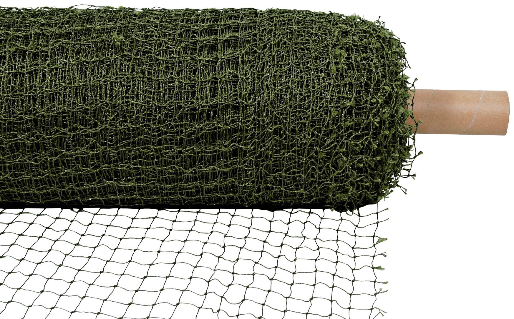 Schutznetz, drahtverstärkt, Rollenware, BxL: 75x2 m, olivgrün