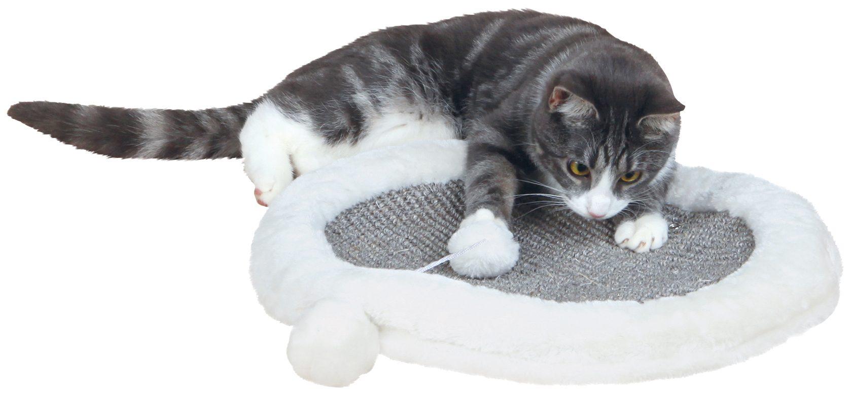 Katzen-Plüschspielzeug »Kratzmatte«, Ø: 40 cm, creme/grau