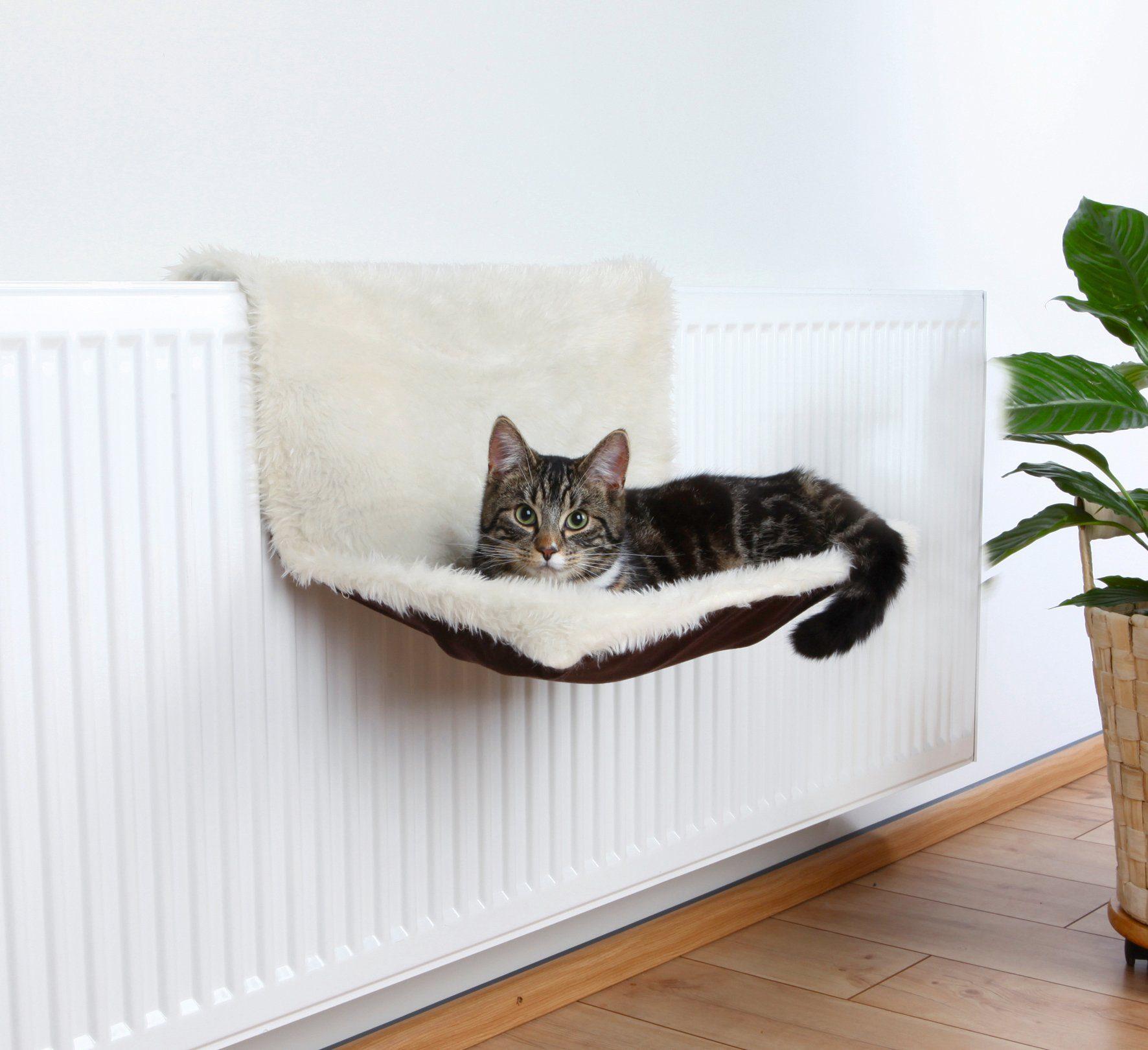 Katzen-Heizkörperliege , B/L/H: 45/31/26 cm, creme/braun