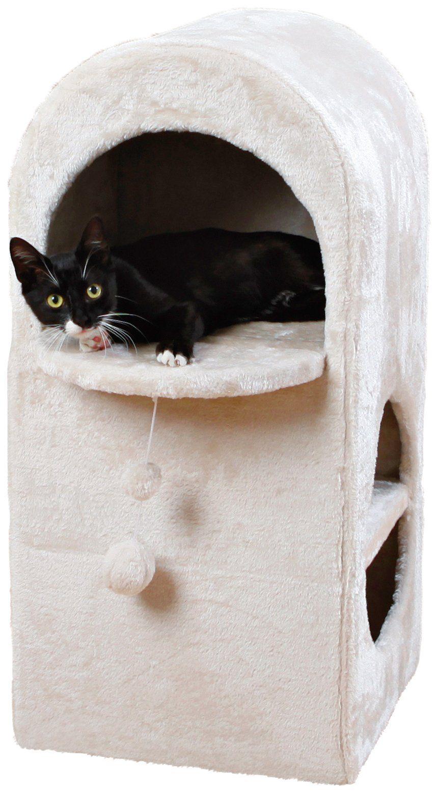 Kratzbaum »Cat Tower Dasio«, B/T/H: 39/39/82 cm, hellgrau